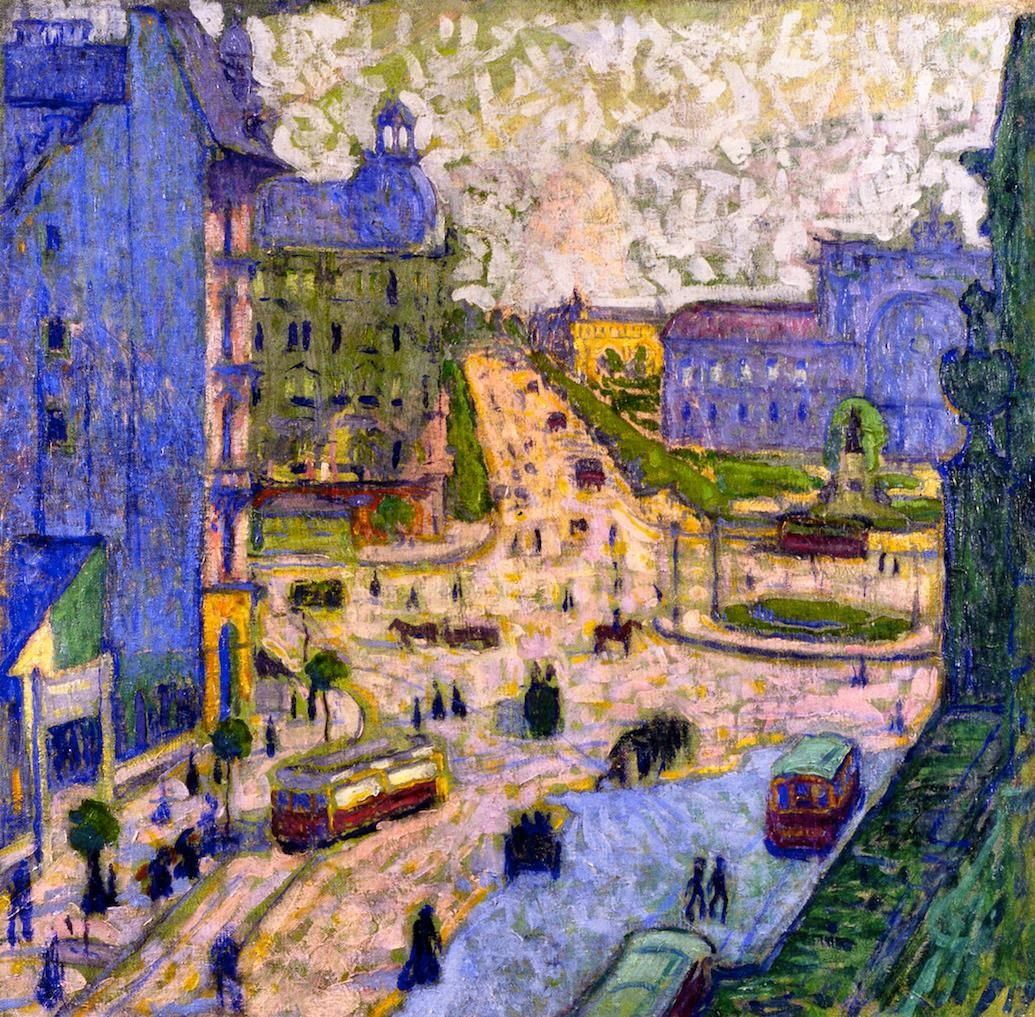 Sándor Ziffer, «The Baross Square», 1908
