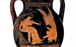 Pelike con Eros che allaccia il sandalo a una fanciulla 425 420 aC Trieste Civico Museo dAntichit