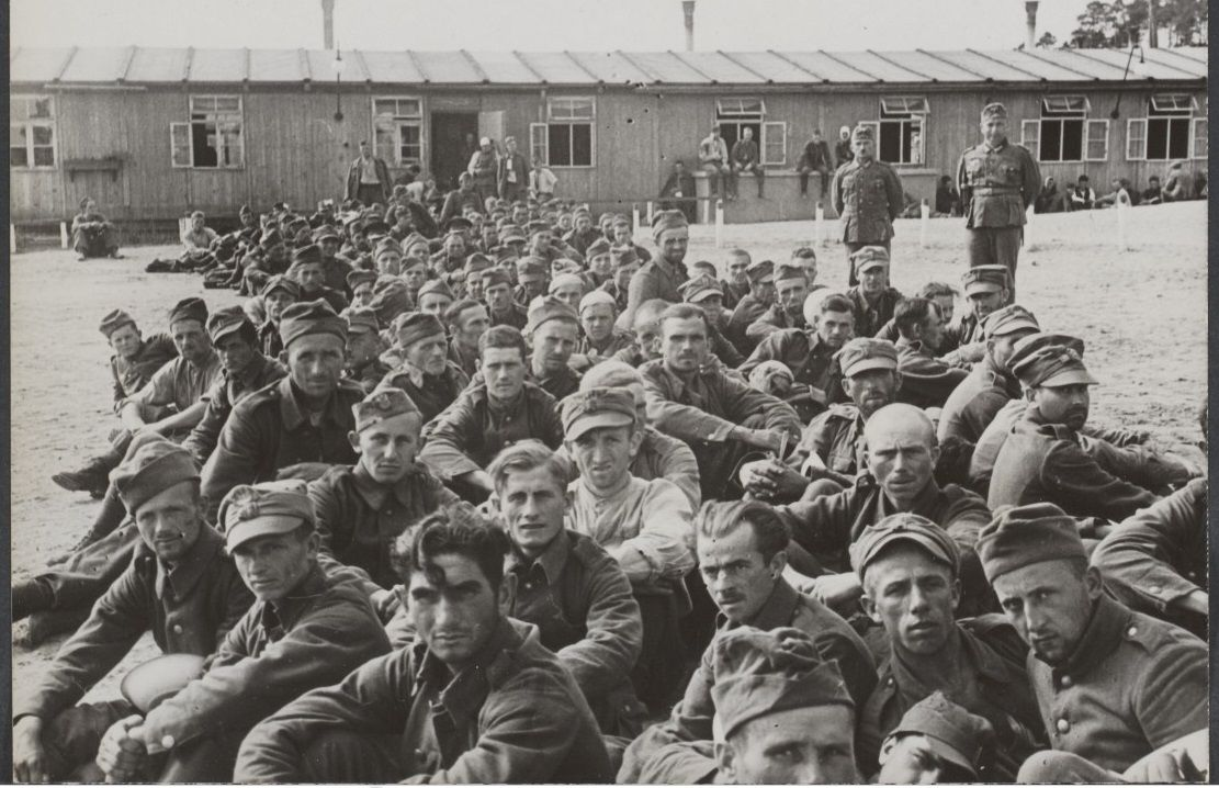 2 settembre 1939, Soldati polacchi in un campo tedesco per prigionieri di guerra