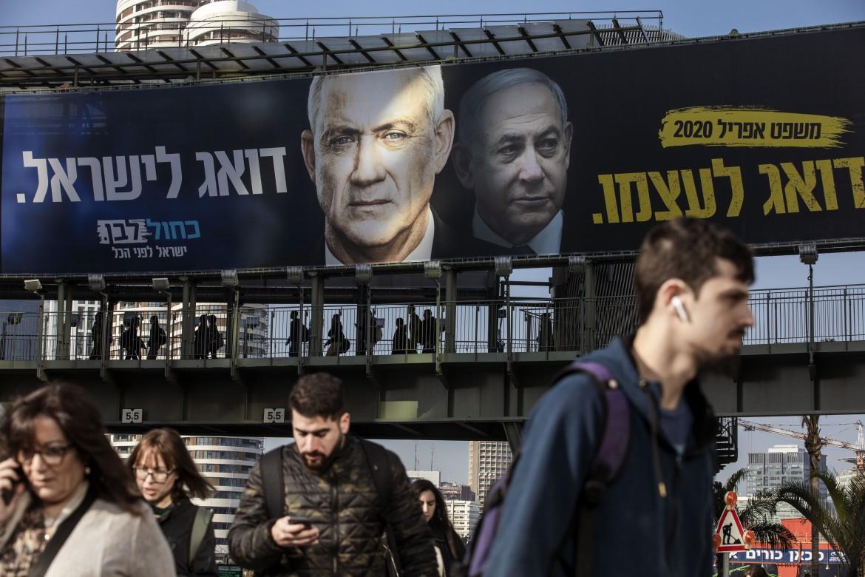 Manifesto elettorale anti-Netanyahu dello sfidante Gantz