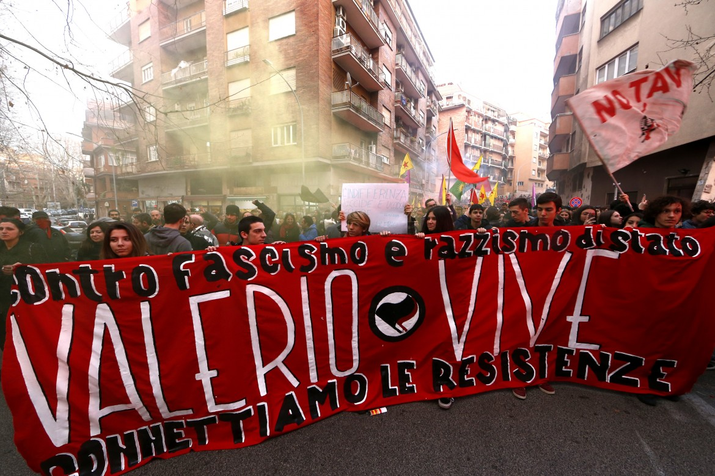 La manifestazione dello scorso anno nell'anniversario dell'assassinio di Valerio Verbano