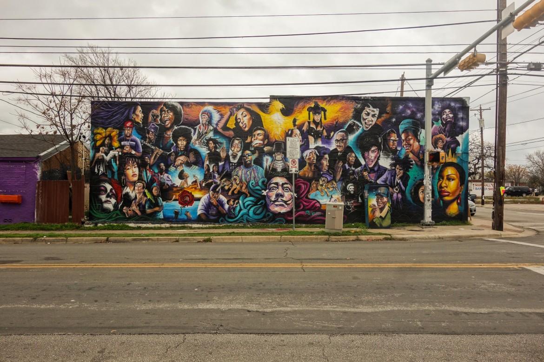 Uno dei celebri murales di Austin