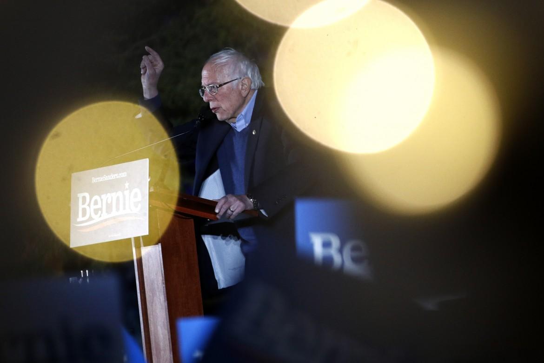 Bernei Sanders durante un comizio a Las Vegas