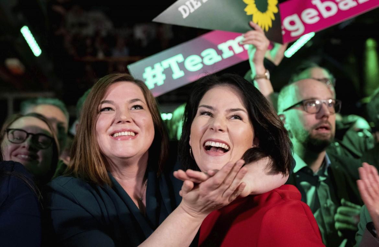 I festeggiamenti della candidata dei Verdi a Amburgo