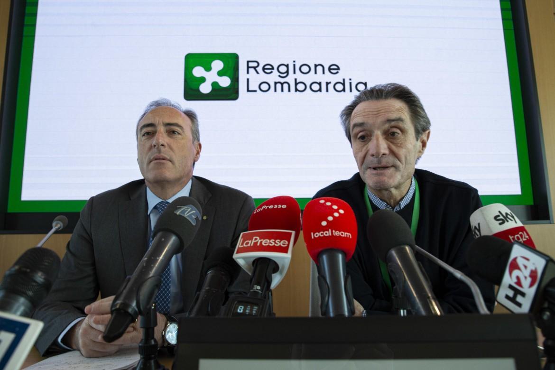 Attilio Fontana in una conferenza stampa dei giorni scorsi