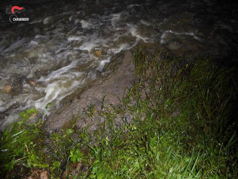 Veleni sversati nel fiume Mucone