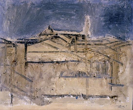 Carlo Mattioli, Paesaggio a Parma, 1964, collezione privata