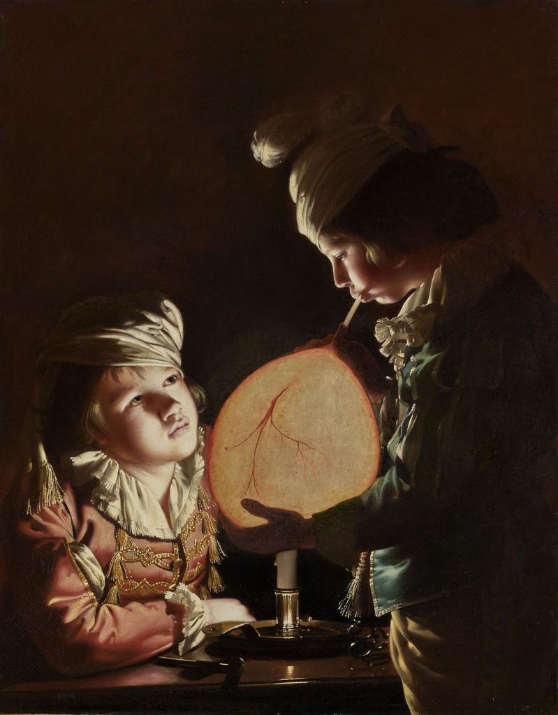 Joseph Wright of Derby, Two boys with a bladder, 1769-'70 ca., Londra, Lowell Libson & Jonny Yarker Ltd.