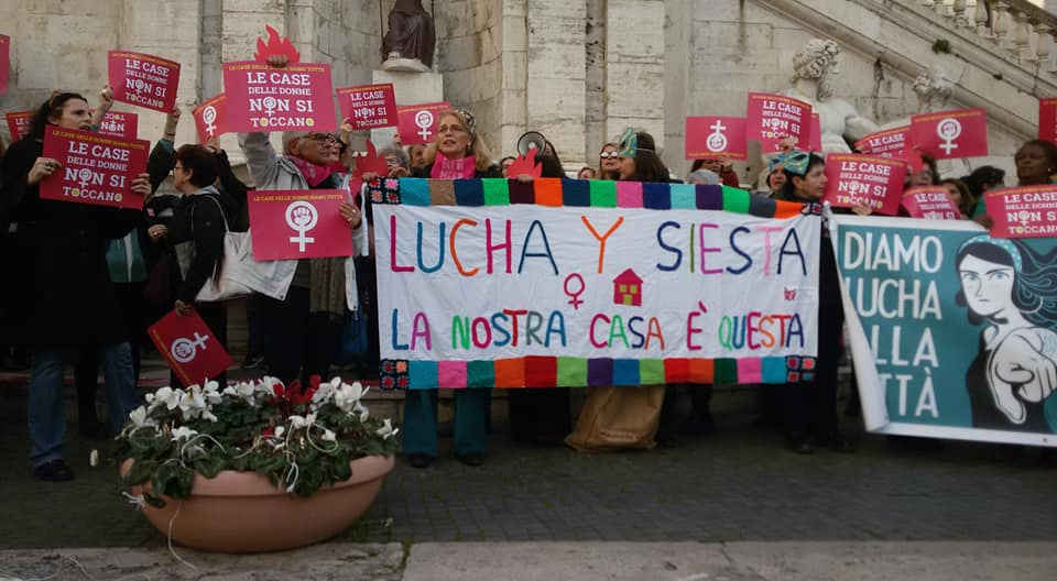 Presidio in Campidoglio per la difesa delle Case delle Donne
