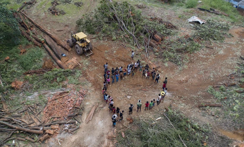Protesta degli indigeni Guarani Mbya contro la deforestazione dei loro territori