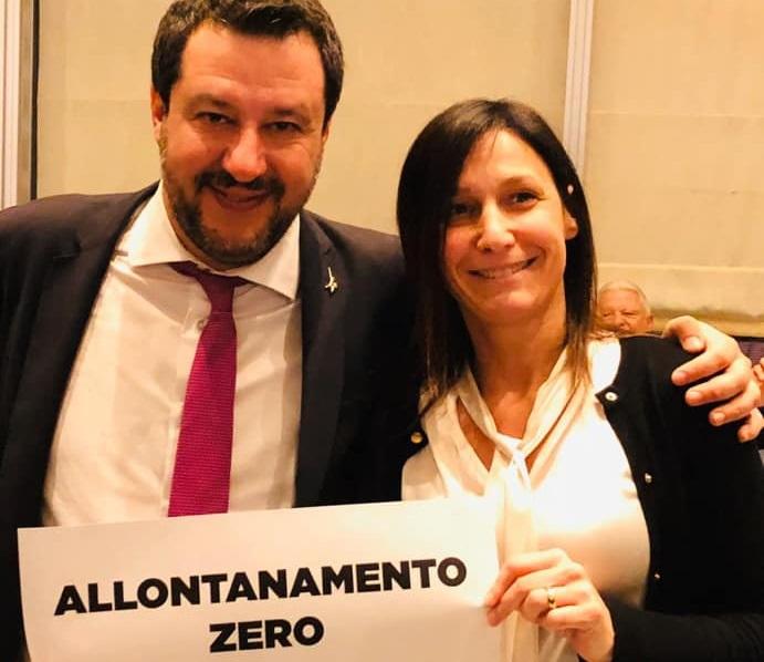 Matteo Salvini e Chiara Caucino