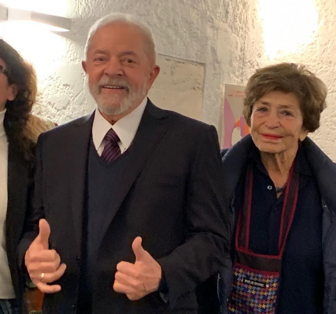 Lula con Luciana Castellina alla Fondazione Basso