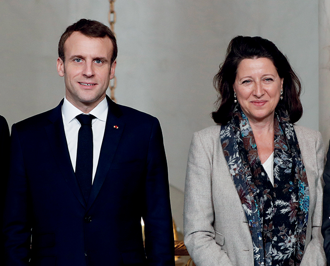 Emmanuel Macron e Agnès Buzyn