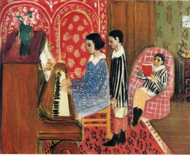 Henri Matisse, «La lezione di pianoforte», 1908