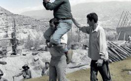 Sergio Leone sul set di Cera una volta il West 1968 foto di Angelo Novi