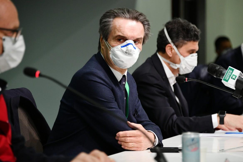 Attilio Fontana alla presentazione dell'Ospedale Fiera