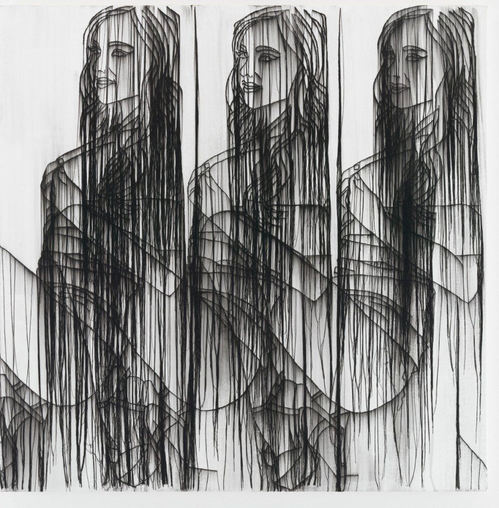 Ghada Amer, «Three girls in black and white» (2016)