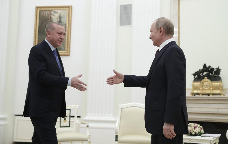 L'incontro a Mosca tra Recep Tayyip Erdogan e Vladimir Putin