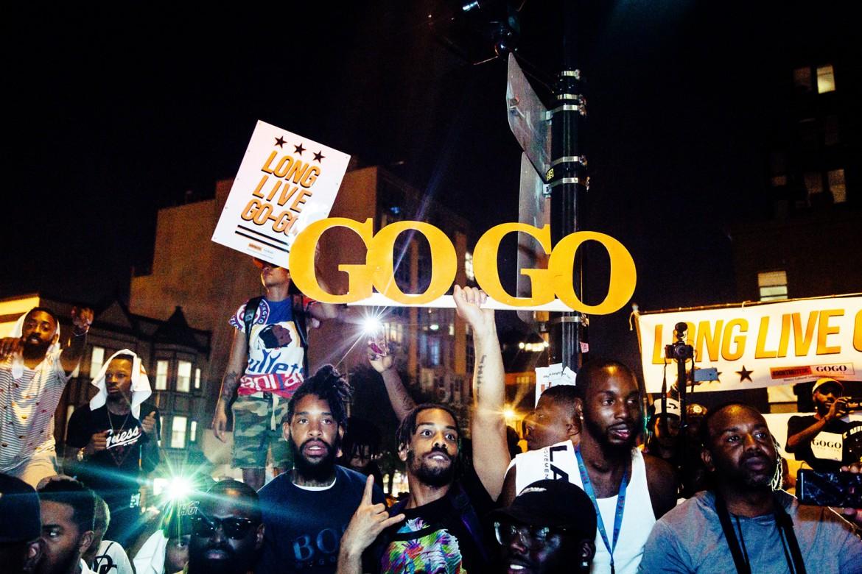 Una manifestazione pro Go Go Sound a Washington