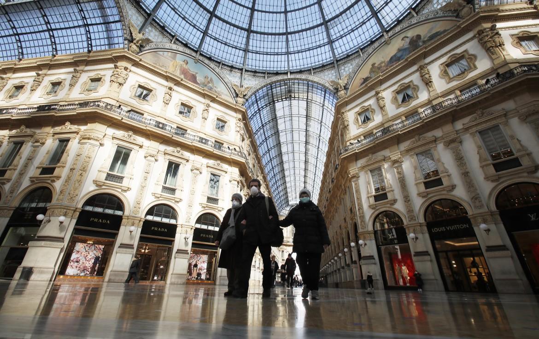 Milano. La Galleria Vittorio Emanuele, ieri