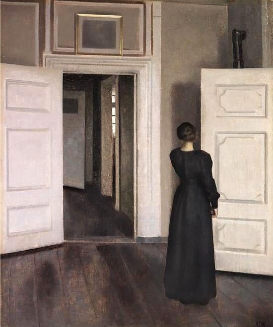 Un'opera dell'artista danese Vilhelm Hammershoi