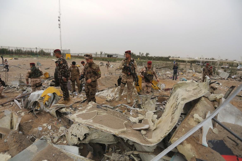 Distruzioni provocati dal bombardamento Usa
