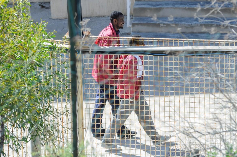 Centro di accoglienza a Lampedusa