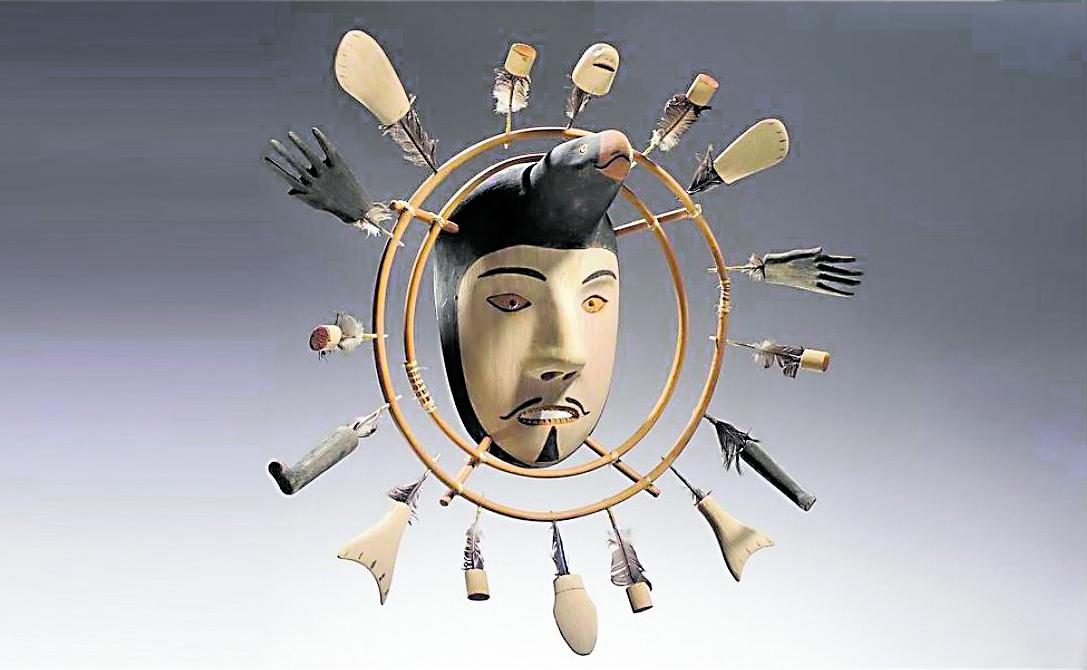 Maschera della Nunivagmiut Cup'ik (Isola Nunivak), Alaska