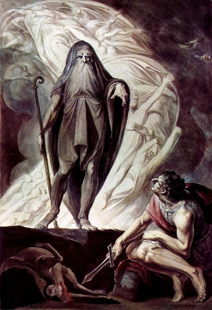 L'anima di Tiresia appare a Odisseo, un dettaglio dall'opera di Johann Heinrich Füssli