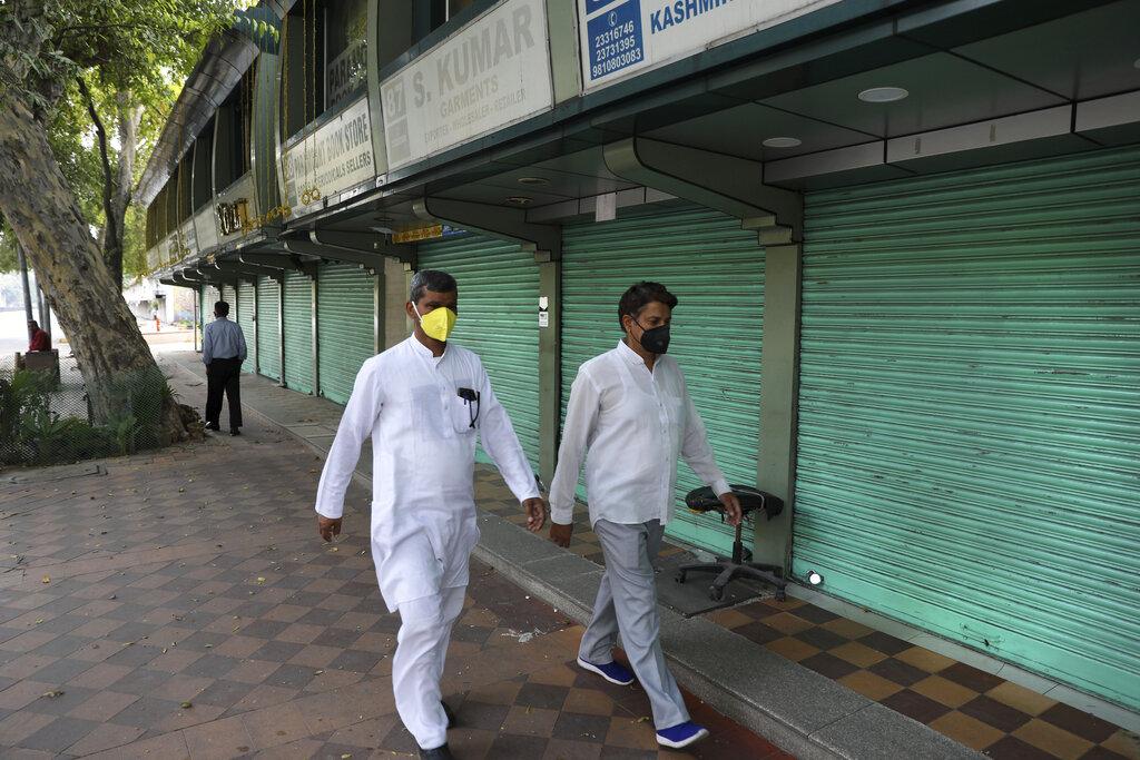 In una New Delhi svuotata dal lockdown