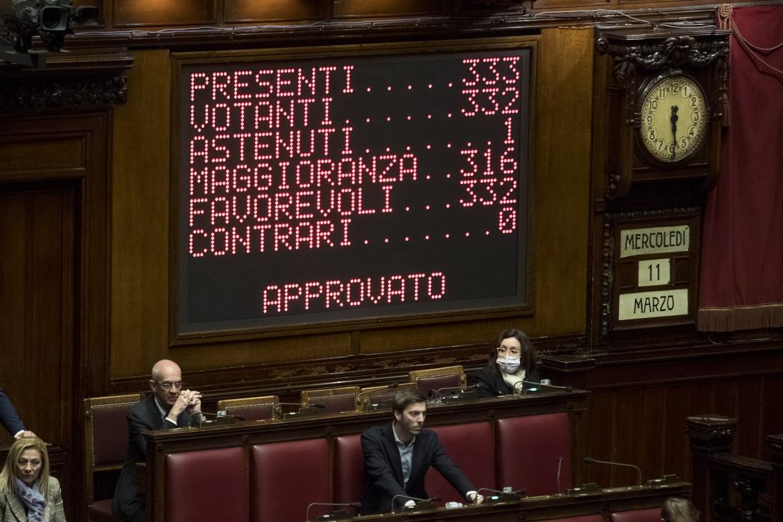 L'esito della votazione di ieri alla camera dei deputati