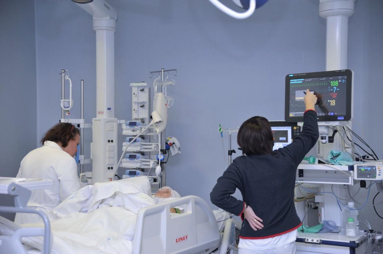 Terapia intensiva all'ospedale di Begamo
