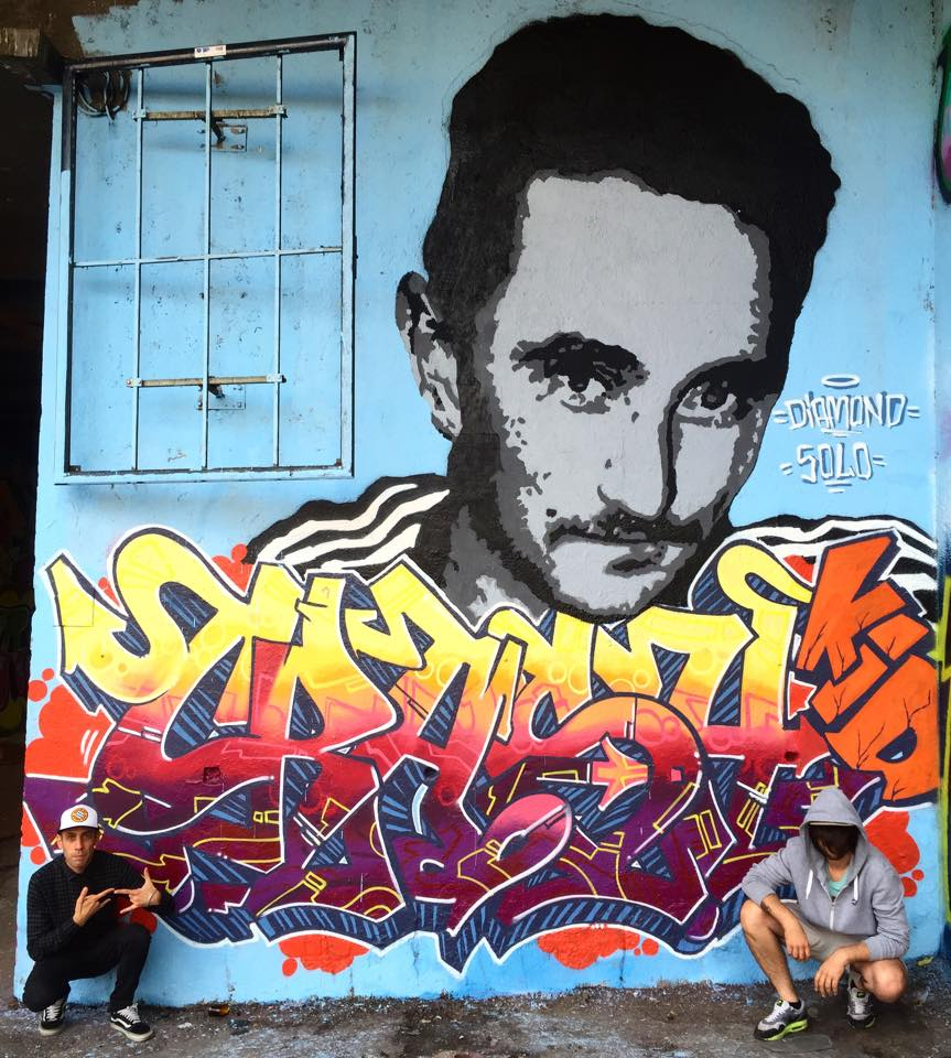 Murales dedicato a Crash Kid