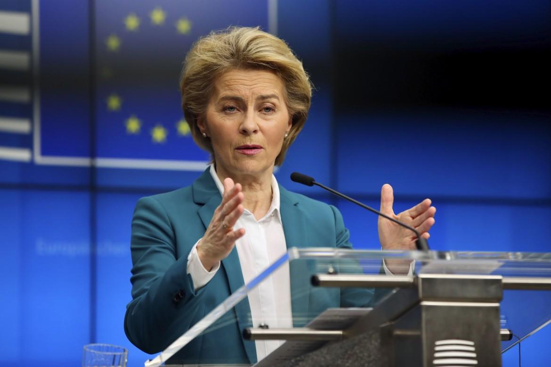 La presidente della Commissione Europea Ursula Von Der Leyen
