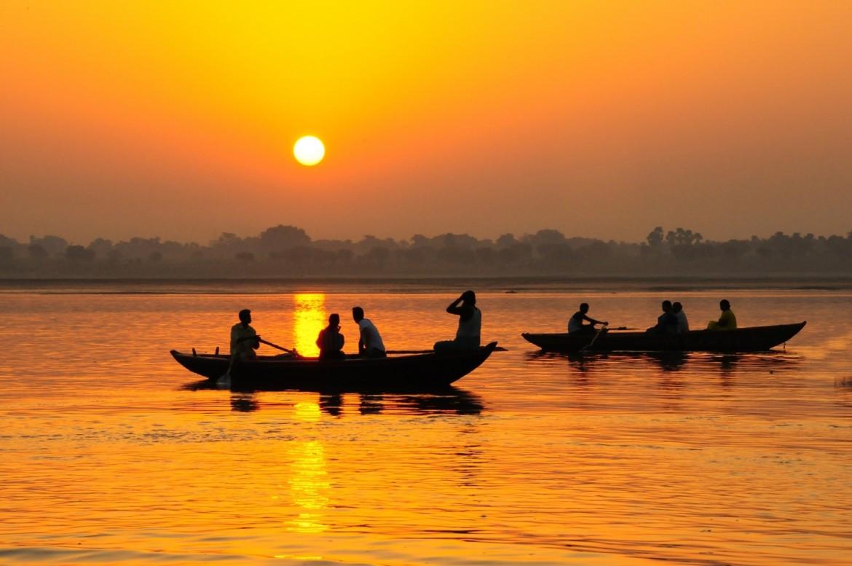 Tramonto sul Gange, autore sconosciuto