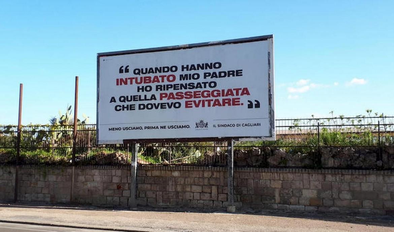 Uno dei manifesti apparsi a Cagliari
