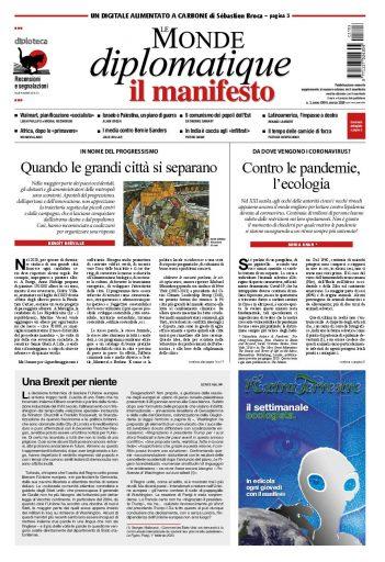La copertina di Le Monde diplomatique di marzo 2020