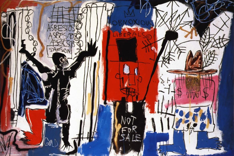 Jean-Michel Basquiat, «Obnouxious Liberals», 1982