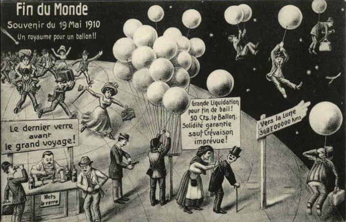 Una vignetta satirica francese sull'imminenza del passaggio della Cometa del 1910