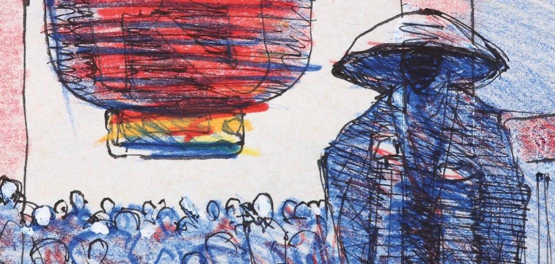 Un disegno di Andrzej Wajda