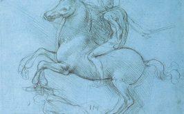 Leonardo da Vinci studio per il monumento Trivulzio disegno recto Royal Collection of the United Kingdom