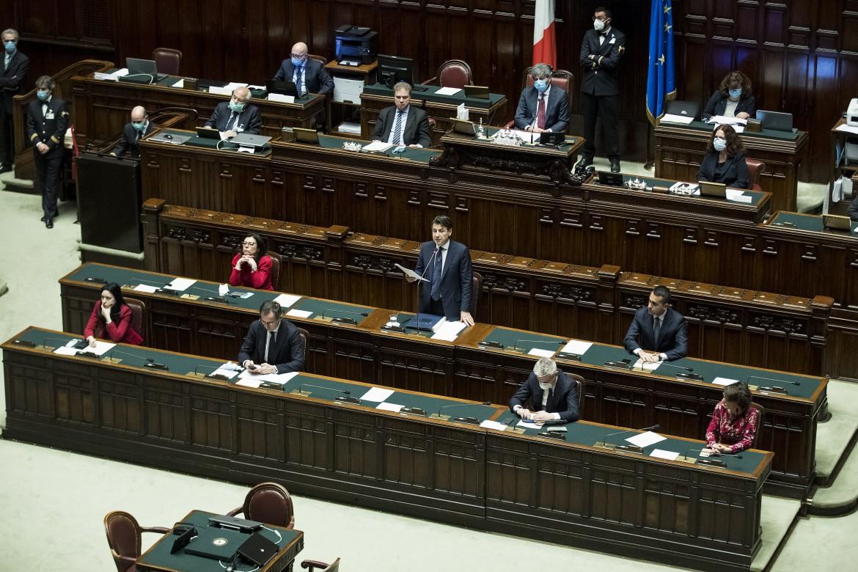 Il premier Conte alla Camera il 5 maggio scorso
