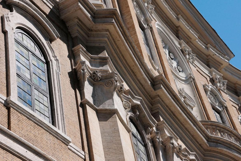 Francesco Borromini, Oratorio dei Filippini, particolare della facciata principale