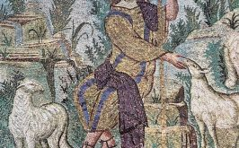 Ravenna Mausoleo di Galla Placidia lunetta col Buon Pastore part prima met del V secolo