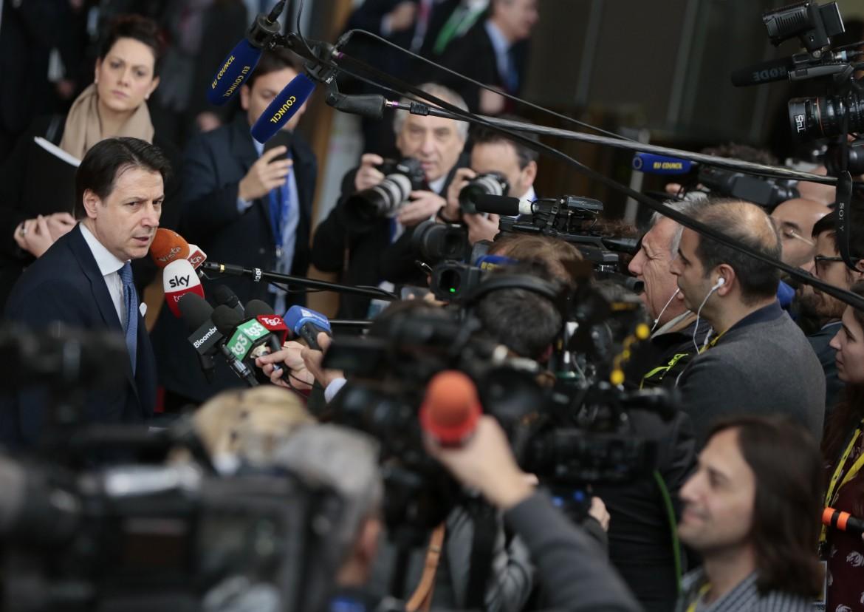 Giuseppe Conte al suo arrivo al summit europeo del 21 febbraio