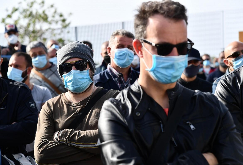 Presidio dei lavoratori di Acciaierie d'Italia (Ex Ilva9 a Genova
