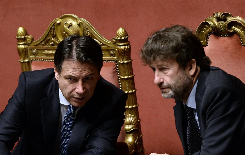 Il premier Giuseppe Conte e il ministro Dario Franceschini