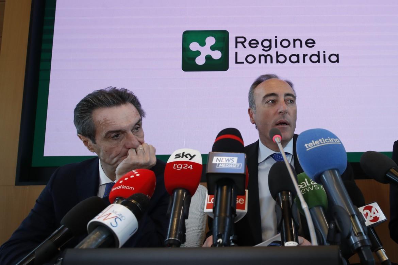Fontana e Gallera in conferenza stampa