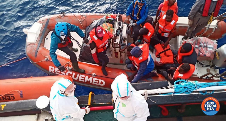 Un soccorso di Mediterranea