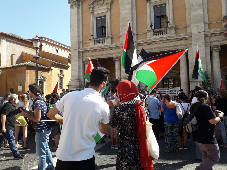 Manifestazione contro l'annessione a Roma, giugno 2020